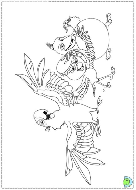 rio birds coloring pages rio 2 coloring page dinokids org