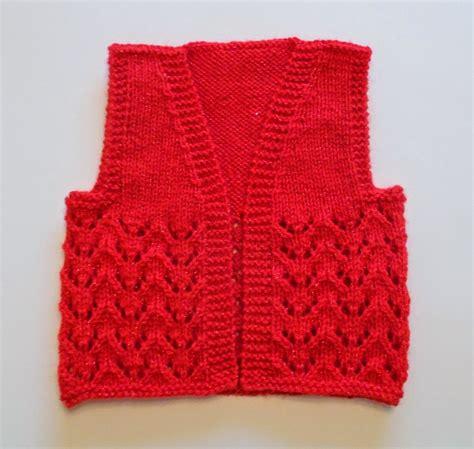 knitted gilet pattern basic baby gilet allfreeknitting