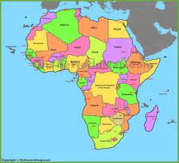 Africa Map Capitals by Map Of Africa With Countries And Capitals