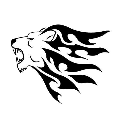easy lion tattoo designs simple lion head tribal v 2 by shadow696 on deviantart