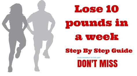 how to lose 10 pounds weight in a week lose weight fast