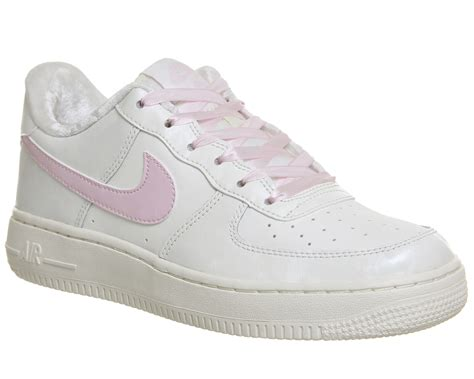 Nike Airforce One Putih Pink nike air 1 trainers white article pink hers trainers