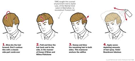 how to fix a dry look combover the secret to donald trump s hair