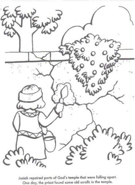 free bible coloring pages king josiah josiah bible story activities and crafts