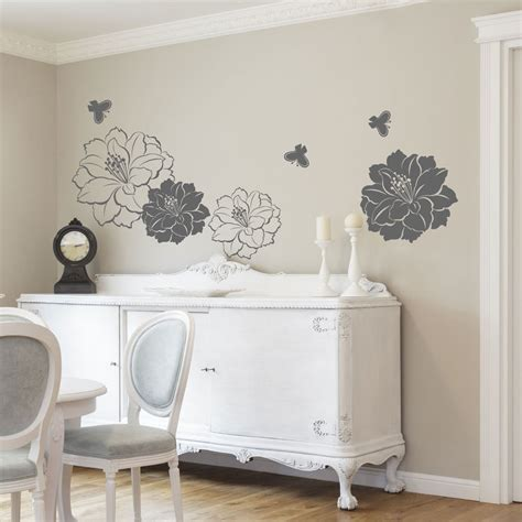 large flower wall stickers large flower butterfly wall stickers wall decals ebay