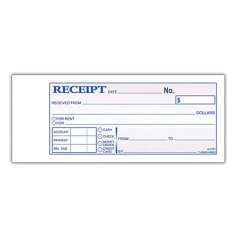 adams moneyrent receipt books 7 316 x 2 34 3 part
