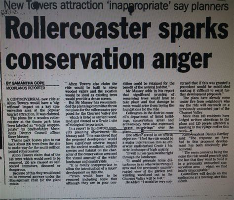 theme park newspaper articles tales from the towers john wardley s infamous cross