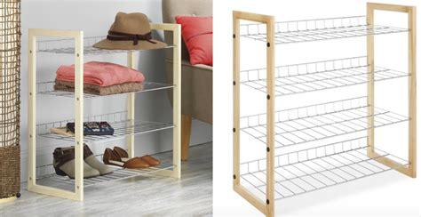 whitmor closet shelves whitmor 4 tier closet shoe accessory shelves
