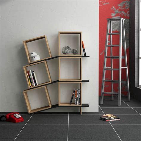 librerie mensole sloping libreria da parete cubi e mensole in legno bianco