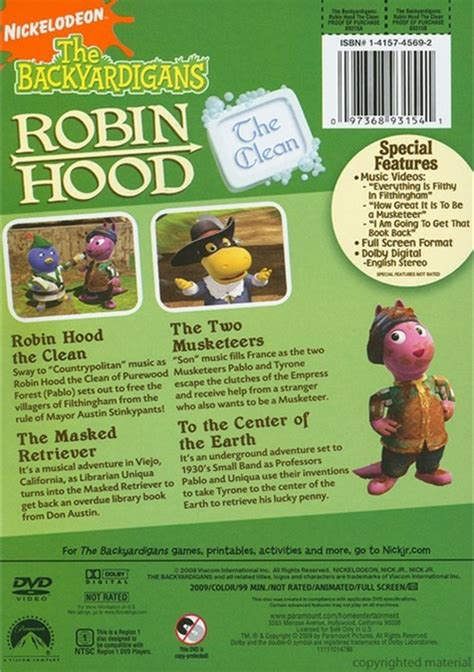 Backyardigans Dvd Backyardigans Robin The Clean