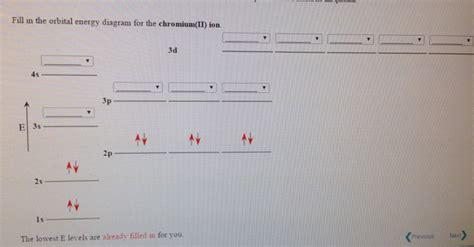 Solved Fill In The Orbital Energy Diagram For The Chromiu
