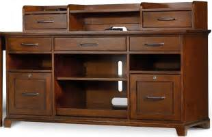 credenza hutch wendover cherry computer credenza with smart hutch from