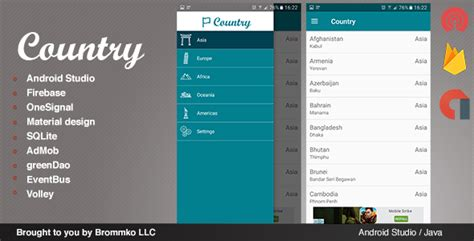 android templates for sale country full android template app by brommkollc codecanyon