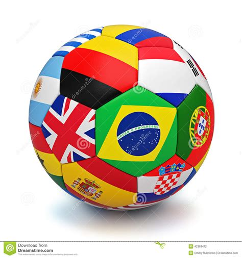 libro the south american football soccer ball with world countries flags stock illustration illustration of background france