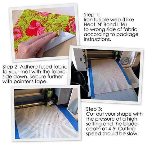 fabric crafts cricut how to use the cricut to cut fabric craft ideas