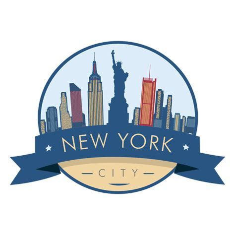 imagenes png new york new york skyline badge transparent png svg vector