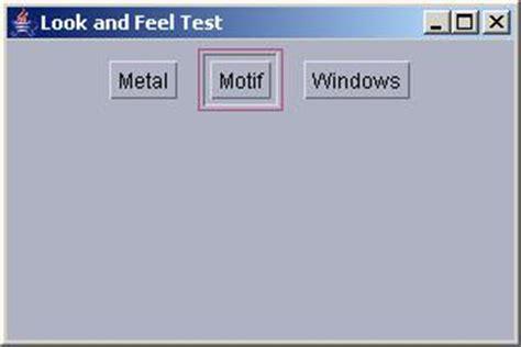 java swing windows look and feel java tutorials java look and feel