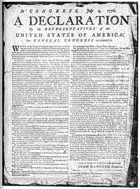 printable version of the declaration of independence declaration of independence text printable version www