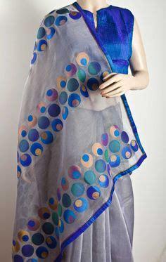 Kaftan India Stella Mix Bordir sarees on saree appliques and silk