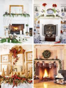 Christmas Fireplace Decorating Ideas 33 Mantel Christmas Decorations Ideas Digsdigs