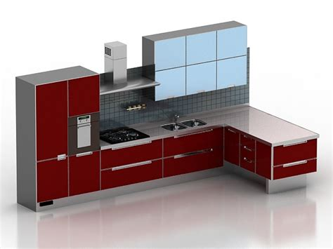 Kitchen Cabinet 3d by Modern Kitchen Cabinet 3d Model 3dsmax 3ds Files Free