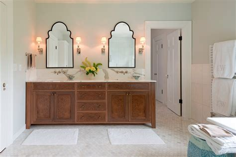 Double Sink Bathroom Decorating Ideas dazzling bassett mirror in bathroom traditional with