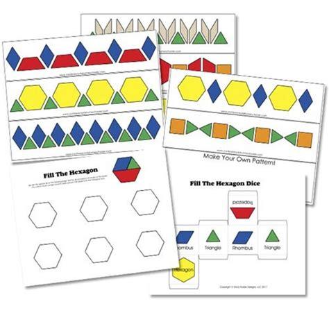 pattern and algebra games great free printable for pattern blocks not just for