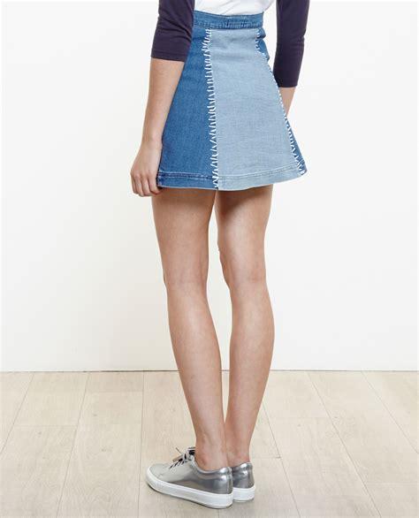 blue jean mini skirt free