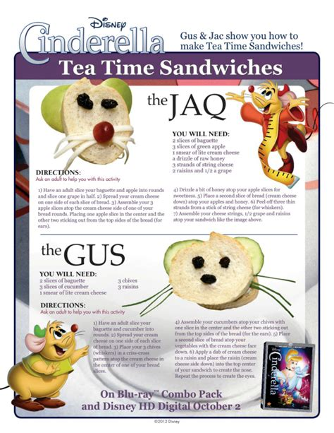 Recipes For Main Dishes - disney cinderella tea time sandwiches mama likes to cook