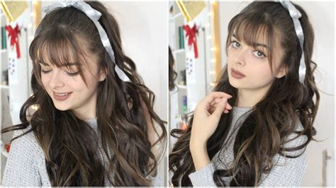 casual christmas hairstyles cute easy casual glam christmas hairstyle youtube