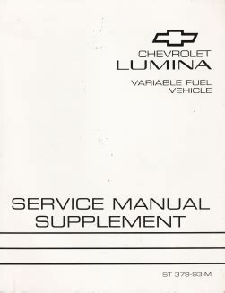 free service manuals online 1993 chevrolet lumina instrument cluster 1993 chevrolet lumina variable fuel factory service manual supplement