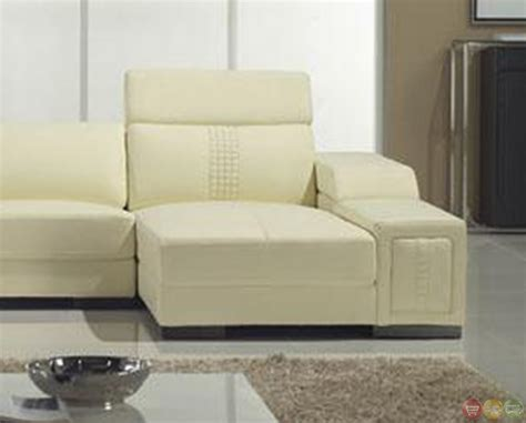 cream sectional sofa cream italian leather modern sectional sofa with shelves