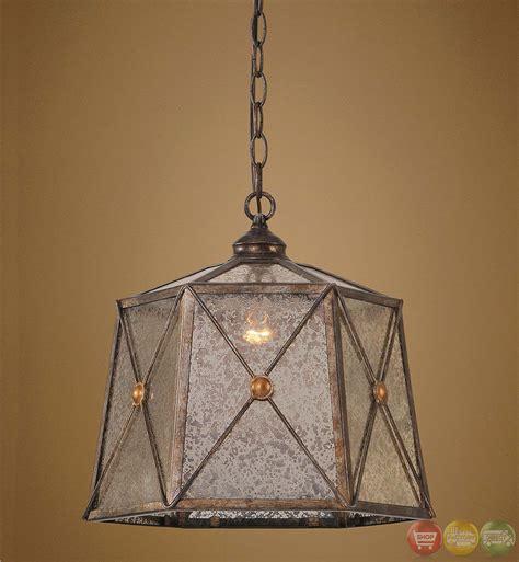 rustic glass pendant light basiliano rustic 1 light pendant 21991