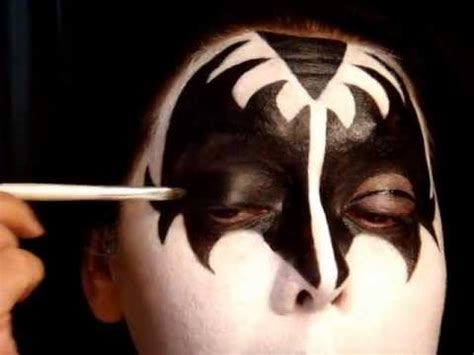 kiss makeup tutorial demon kiss series gene simmons the demon make up tutorial pt 1