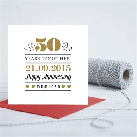 Wedding Anniversary Cards Personalised by Personalised Wedding Anniversary Card By Gift