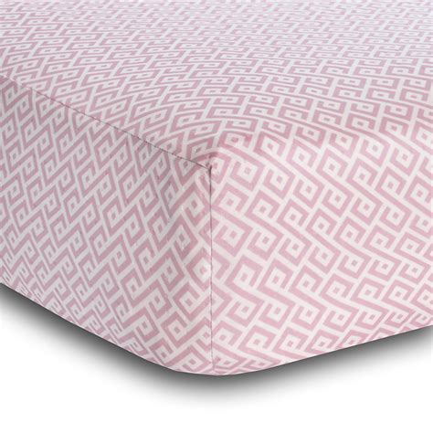 breathable sheets breathablebaby 174 pink diamond breathable 174 fitted crib sheet