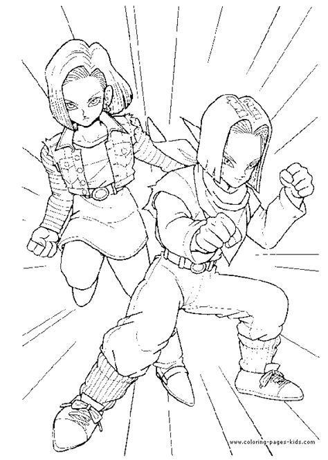 Dragon Ball Z Color Page Coloring Pages For Kids Coloring Pages Of Z Characters