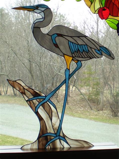 stained glass pattern blue heron blue heron amberlyn s stg delphi artist gallery