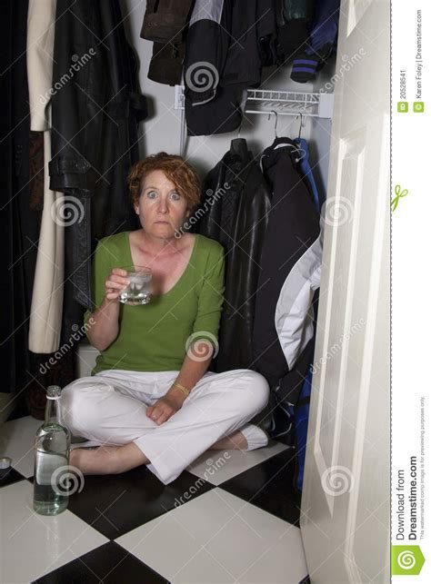 Closet Drinker closet drinker surprised stock image image 20528541