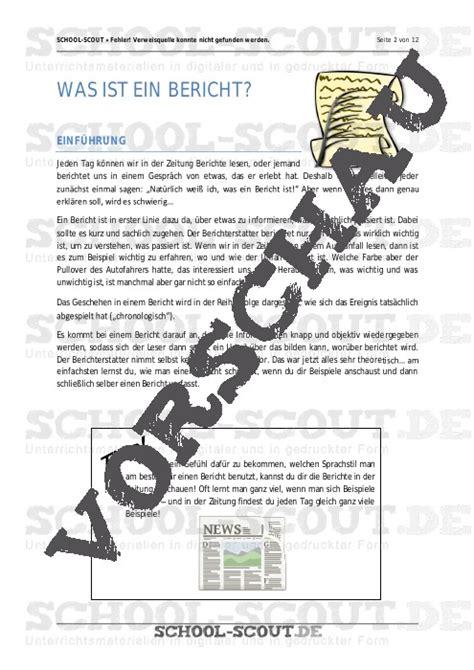 bericht schreiben unterrichtsentwurf bericht schreiben im unterricht unterrichtsmaterial und arbeitsbl 228 tter school scout