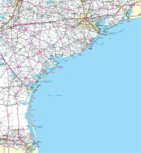 map of texas gulf coast beaches map of texas coast