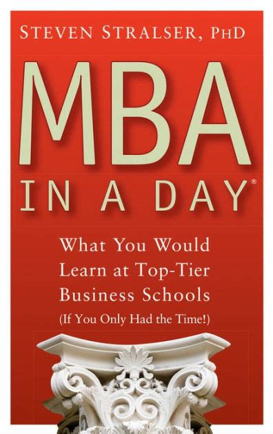 W Day Mba by Mba In A Day What You Would Learn At Top Tier Business