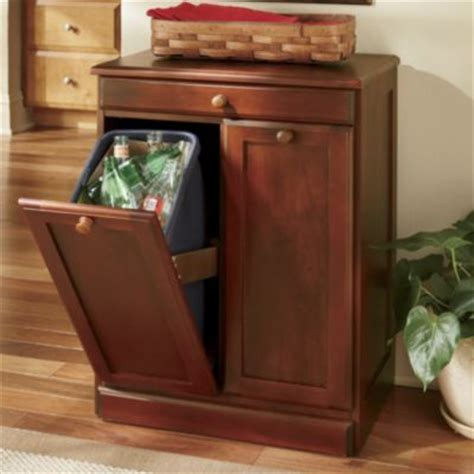 double garbage can cabinet dirty work double bin countrydoor com kitchen storage