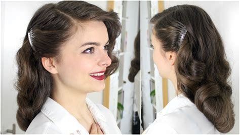 40s Hairstyles For Hair 40s brush out on hair tutorial