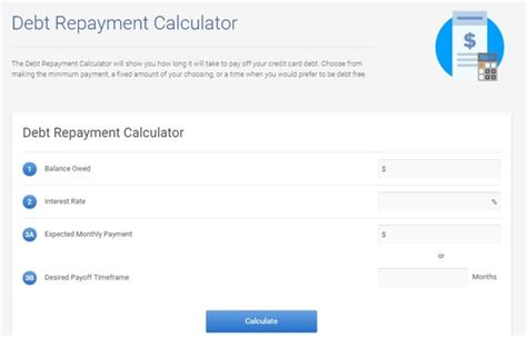 Credit Card Formula For Interest Credit Card Interest Calculator See How It Could Take To Be Credit Card Debt Free With