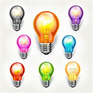 colorful light bulbs different colored light bulb vector material vector
