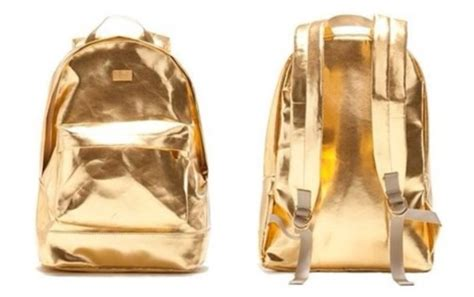 bag colorful brand backpack fashion gold