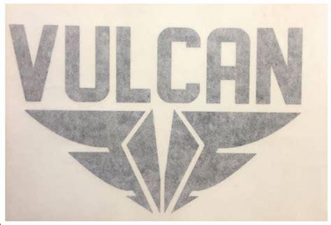 Cutting Sticker Abs 9cm vulcan fins die cut sticker black
