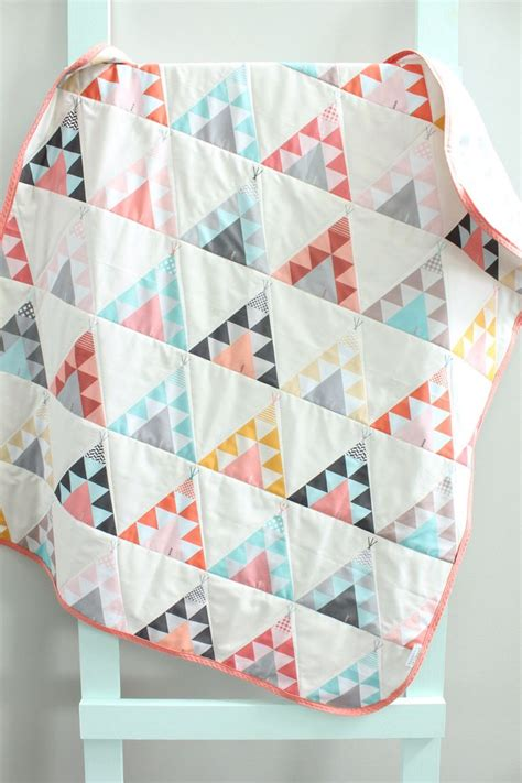 Basic Baby Quilt by Baby Quilt Coral Teepee Southwest Bohemian By Petunias
