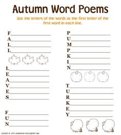 earning my cape autumn poetry printables for kids